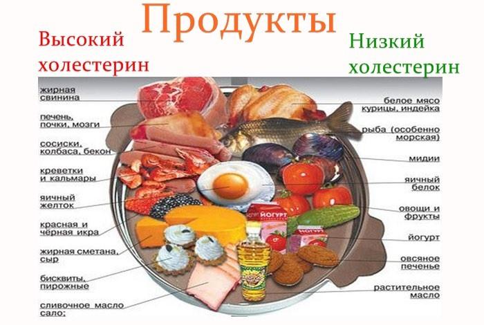 Влияние продуктов на уровень холестерина