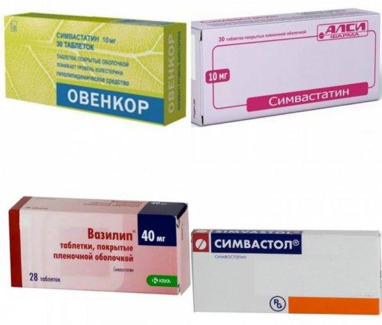 Препараты на основе симвастатина